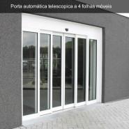 Porta de vidro automática telescópica