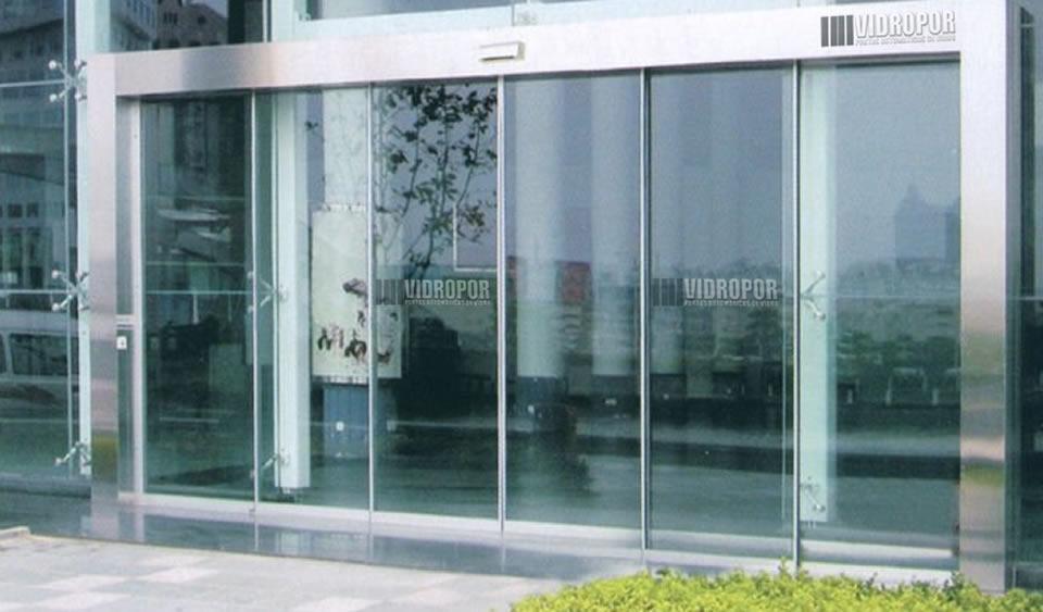 portas de vidro automaticas 4 folhas